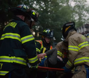 "Shot by professional cinematographer and Hebron volunteer firefighter Matthew Troy, ""See You Out There"" features 85 volunteers from 16 departments across the state. The regional Emmy awards are to be presented on June 15 in Boston. (Screenshot/YouTube)"