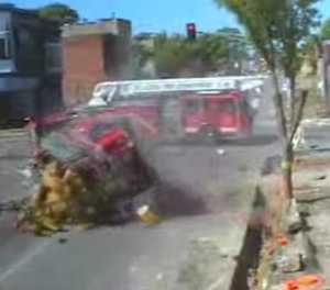 The results of a collision can be fatal for both sides – the firefighter and the civilian.