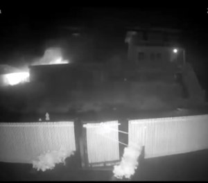 The Seashore Condo & Motel in Ocean Bay Park has a very sophisticated security system that captured video of the fire from the start.