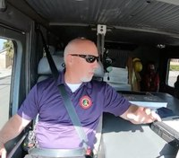 Video: Firefighters in Fire Trucks Getting Ice Cream – Jeff Dill