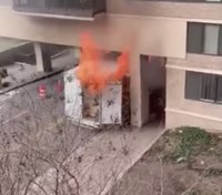 Managing the exposure: Vehicle fire threatens apartment complex