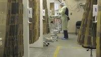 Video: Kan. hospital turnsambulancebay into COVID-19 evaluation space