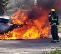 Firefighter safety reminder: Car fires are Class B fires