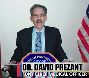 FDNY Chief Medical Director Dr. David Prezant released a video statement last week, answering six critical questions about COVID-19 testing. (Photo/Screengrab)