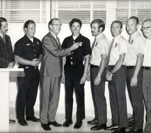 Members of the first paramedic group to be trained at Daniel Freeman Hospital in 1970. (Photo/Los Angeles County)