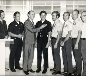 Members of the first paramedic group to be trained at Daniel Freeman Hospital in 1970.