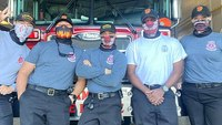The 'Year of the Mask': Firefighters show commitment to wearing face masks