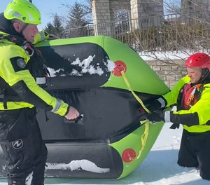Floating platforms such as lightweight inflatable or rigid watercrafts designed for ice applications can be the best asset in a soft ice rescue scenario.