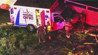Mo. ambulance goes off road, crashes into wall during transport