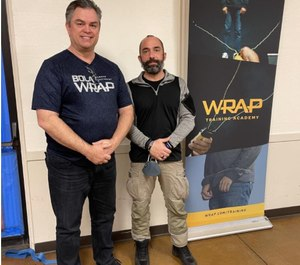 WRAP CEO Tom Smith with International BolaWrap Master Instructor Paolo Grandis (March 10, 2021)
