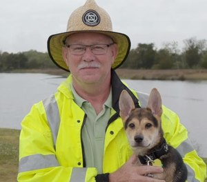 North Charleston Fire Department Captain Paul Bryant and Rocky. (Photo/Screenshot)
