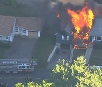 Video: Gas explosions damage multiple homes north of Boston