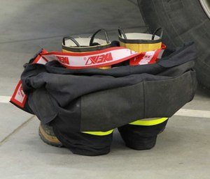 Imagine what your firefighting and station boots track into the station.