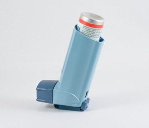 The patient was recently prescribed an albuterol metered-dose inhaler, which he took three puffs from before your arrival.