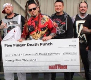Five Finger Death Punch donated a portion of ticket sales to support families of fallen LEOs. (Photo/Facebook)