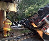 Truck falls from overpass near nation's capital; 1 dead