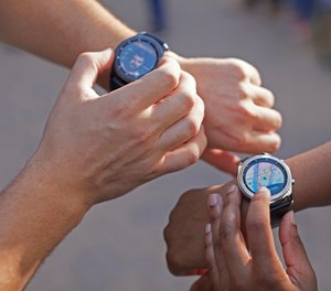 The smartwatch can be a great asset to bike patrol officers where a glance at the wrist is much easier and safer than accessing a smartphone. (Photo/Samsung)