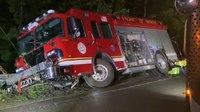 Mich. FFs injured after bridge collapses from underneath engine
