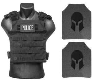 Spartan's AR550 steel-core body armor plates come with a five-year manufacturer's warranty against any defects and a 20-year shelf life.