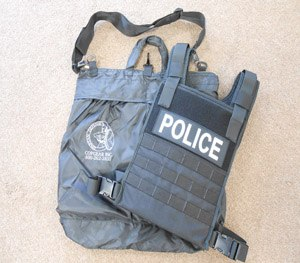 The Spartan Warrior System is a four-strap harness, quick release vest carrier made of 1000 denier ballistic nylon. (Image New York Police Supply)