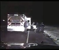 Video: Man being rushed to hospital stopped for speeding
