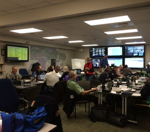 For fire departments represented in the command center, computer programs provide quick access to area files, GPS maps, organizational documents and forms as well as other resources that may help with response efforts in the event of an emergency occurring within a special event.