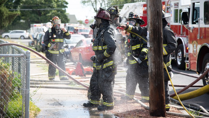 Policies dictating on-scene PPE decontamination, cleaning of crew cabs, thorough post-scene cleaning at the station, and regular gear washing as a part of their policies and procedures affected changes in behavior.