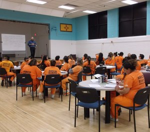 Inmates at Springer Correctional Center in Springer, N.M., participate in a week-long seminar. The state recently announced plans to close the facility, which would cost the town of 1,000 residents around 150 jobs.
