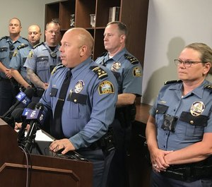 St. Paul Police Chief Todd Axtell announced the firing of five police officers for failing to intervene in an assault last year.