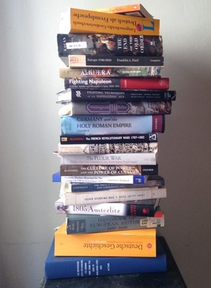 Image of stacked books (Photo/Wikimedia)