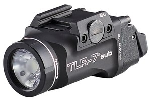 The TLR-7 sub delivers with a 500 lumen, 5,000 peak candela beam that reaches out to 140 meters and runs for 1.5 hours. (Image/Streamlight)