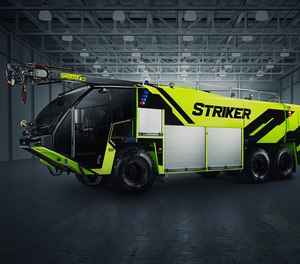 Oshkosh Airport Products has unveiled the new Oshkosh® Striker® ARFF vehicle with an optimized cockpit and best-in-class legacy features. (Courtesy photo)