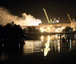 The May 2012 fire that crippled the nuclear submarine showed that the Navy had become complacent about safety in industrial settings and put too much faith in land-based firefighters who had never trained to battle a blaze aboard a submarine, Navy investigators concluded. (AP Photo/The Herald, Ionna Raptis, File)