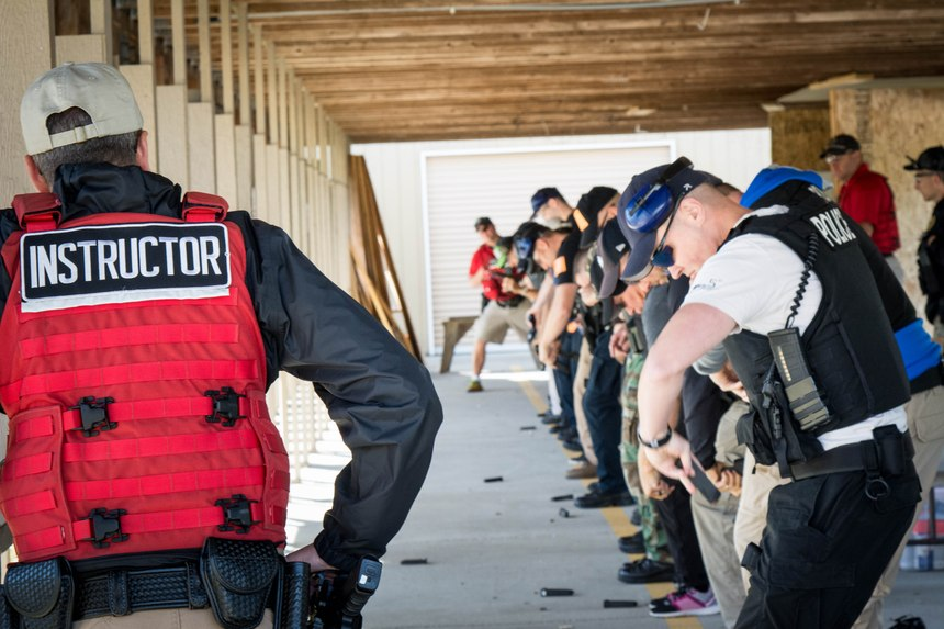 There is no need to fabricate a gunfight environment for a shooting test, but the skills tested must be job-relevant.