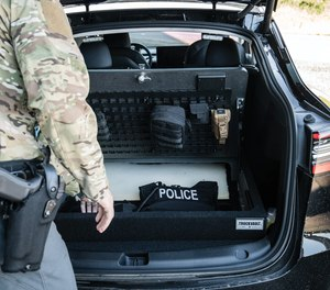 This Tesla Model Y is used by a special operations unit as a discreet patrol vehicle.