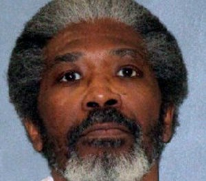 Death row inmate Robert Jennings. The 61-year-old Texas man on death row was set to be executed Wednesday, Jan. 30, 2019, for killing a Houston police officer more than three decades ago. Jennings would be the first inmate put to death this year both in the U.S. and in Texas, which is the nation's busiest capital punishment state. Jennings was condemned for the July 1988 slaying of Houston Police Officer Elston Howard during a robbery of an adult bookstore. (Texas Department of Criminal Justice via AP)