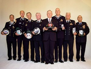 """Ielpi searched Ground Zero with a group dubbed """"The Band of Dads"""" – eight FDNY fathers looking for their sons."""