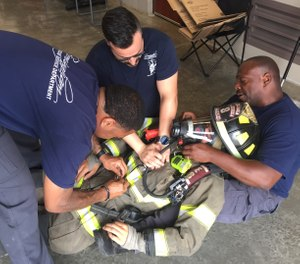Hold training specifically geared toward treating one of your own. One component of the training should focus on performing CPR on a firefighter dressed in full gear. (Photo/Ben Thompson)