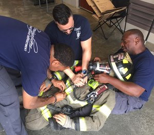 Hold training specifically geared toward treating one of your own. One component of the training should focus on performing CPR on a firefighter dressed in full gear.