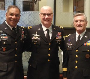 Pictured L-R are Generals Garrett, Mullikin and Lott. (Photo/W. Thomas Smith)
