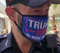 Uniformed Miami cop wearing pro-Trump mask at voting site will be disciplined