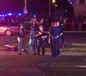 A shooting at a Charlotte, N.C. block party left two people dead and 12 injured. Five were injured when they were struck by cars while trying to flee the gunfire. (Photo/WSOC, Gaston Gazette)
