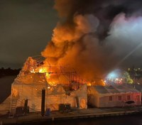 Trapped fuel could pose environmental threat after fire destroys $20M yachts