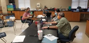 Bastrop school district teachers and staff have been back in campuses since Aug. 10 to prepare for the start of the 2020-21 school year. This year parents will have the option to have their students learn virtually or in-person amid the coronavirus pandemic. Image courtesy of Bastrop School District in Texas
