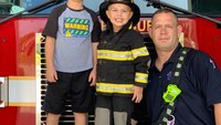 Watch: Video of FF's 3-year-old son putting out fire, performing CPR goes viral