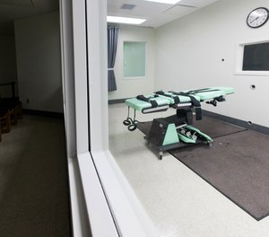 In this handout photo provided by California Department of Corrections and Rehabilitation, San Quentin's death lethal injection facility is shown before being dismantled at San Quentin State Prison on March 13, 2019 in San Quentin, California.
