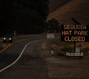 Sequoia National Park and Kings Canyon National Parks are closed because of wildfires.