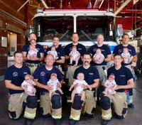 Calif. FD sees baby boom, with firefighters welcoming 9 newborns in 4 months