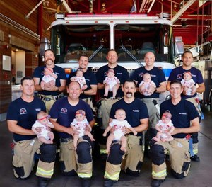Gabrielle Costello, a spokeswoman for the fire department, said some of the dads are first-timers, while others have as many as four kids at home. (Photo/Tribune News Service, Rancho Cucamonga Fire District)