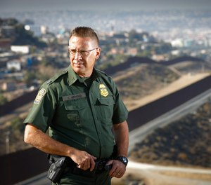 Chancy Arnold, assistant patrol chief of the U.S Border Patrol's San Diego Sector, is also the longest-serving border patrol agent in the United States. Photographed at